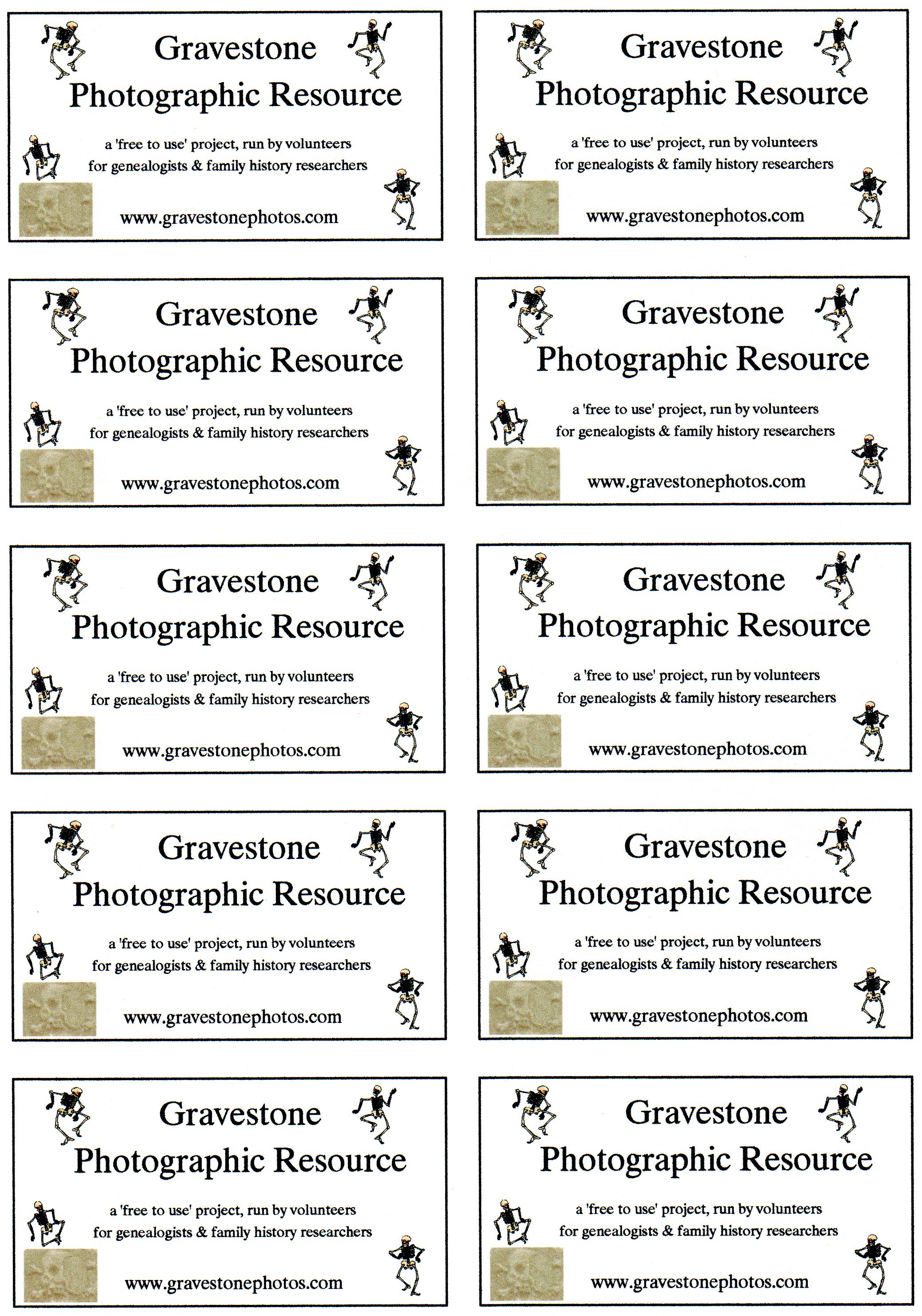 business card template a4 28 images gravestone photographic