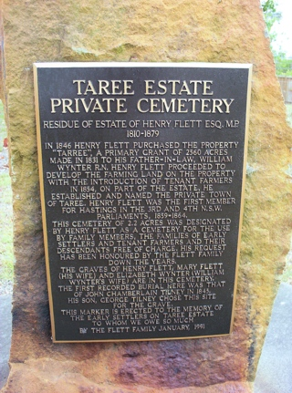 photo of Taree Estate Pioneer Cemetery