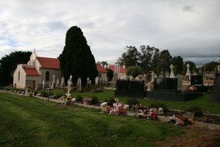 photo of St Joseph Catholic's Church burial ground