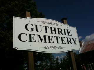 photo of Guthrie United Presbyterian's Church burial ground