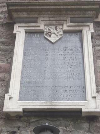 photo of St Marks Church Roll of Honour
