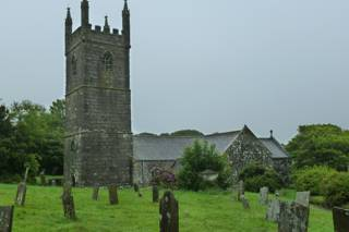 photo of St Mawgan in Meneage's Church burial ground