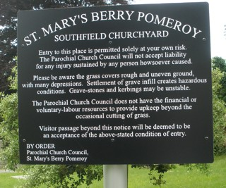 photo of Southfield's Church burial ground