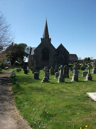 photo of St Lawrence's Church burial ground