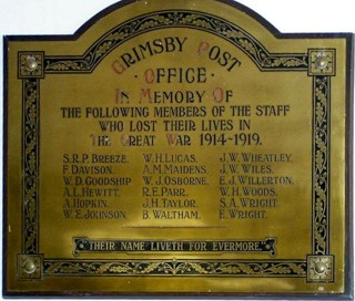 photo of Post Office Roll of Honour