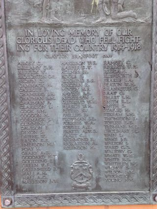 photo of Wintringham School Roll of Honour