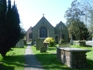 photo of St Mary with St Alban's Church burial ground