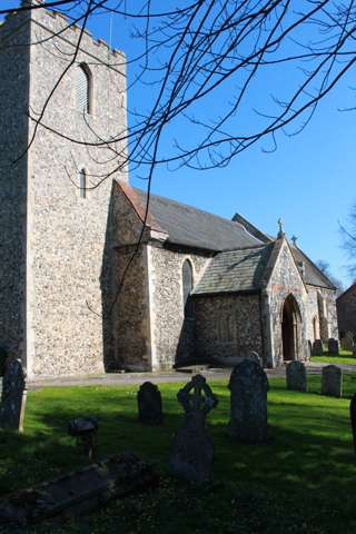 photo of St Margaret's Church burial ground