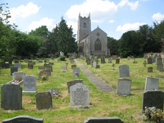 photo of Holy Innocents' Church burial ground