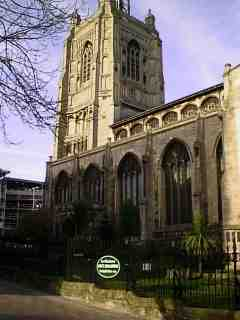 photo of St Peter Mancroft's Church burial ground