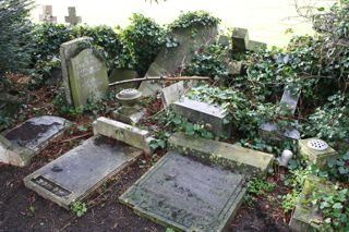 photo of London Road (discarded gravestones) Cemetery