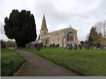 photo of St Mary and All Saints' Church burial ground