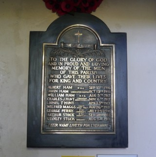 photo of St James Church Roll of Honour