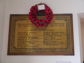 photo of Methodist Church Roll of Honour