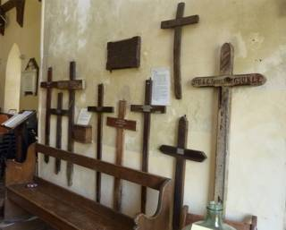 photo of Old Church WW1 Wooden Crosses