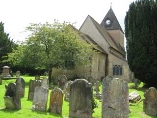 photo of St Margaret of Antioch's Church burial ground