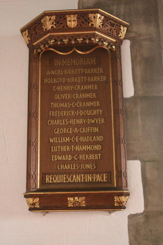photo of St Mary the Virgin (WW1 roll of honour)