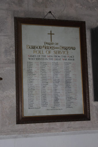 photo of St Martin (roll of honour)