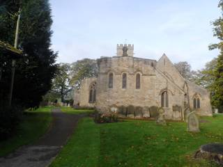 photo of St Agatha's Church burial ground