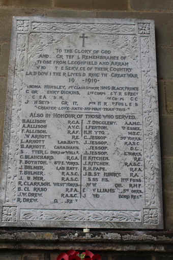 photo of St Catherine (roll of honour)