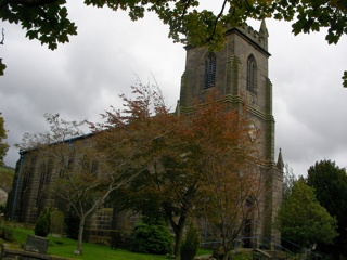 photo of St Cuthbert's Church burial ground