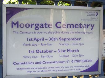photo of Moorgate Cemetery