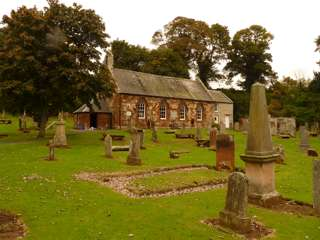photo of Garvald Kirk's Church burial ground