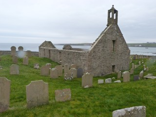 photo of Lady Kirk Pierowall's Church burial ground