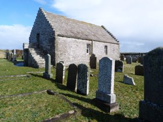 photo of St Boniface Kirk Papa's Church burial ground