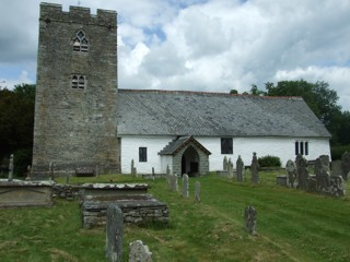photo of St Cewydd's Church burial ground