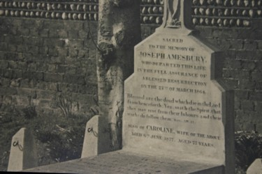 early photo of grave at Hove, Sussex (20)